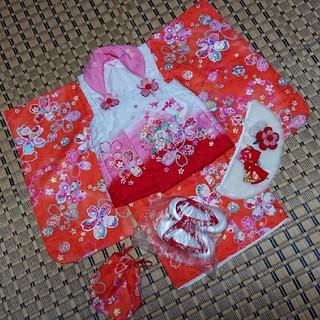七五三 着物 セット 三歳 女の子(和服/着物)