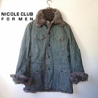 ニコルクラブフォーメン(NICOLE CLUB FOR MEN)のニコルクラブフォーメン 裏ファーデニムコート(Gジャン/デニムジャケット)