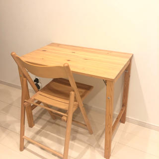 MUJI (無印良品) - 無印良品 折りたたみ 机 椅子 セット ②
