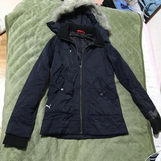 プーマ(PUMA)のPUMApumaダウンジャケットコートmサイズ丈65身幅44フード付きコート(ダウンコート)