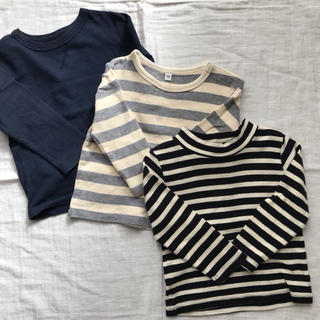 MUJI (無印良品) - 長袖Tシャツ 3枚 90