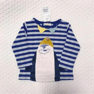 センスオブワンダー(sense of wonder)の新品タグ付 ベイビーチアー ペンギン 長袖Tシャツ 90(Tシャツ/カットソー)