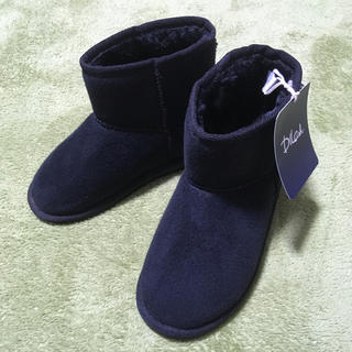 ディラッシュ(DILASH)の19センチ★新品未使用 ムートンブーツ ディラッシュ ブラック(ブーツ)