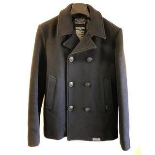 デラックス(DELUXE)の【新品未使用】DELUXE CLOTHING ウールPコート Mサイズ NAVY(ピーコート)
