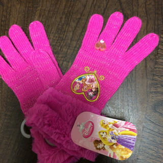 ディズニー(Disney)の新品 プリンセス 手袋 ディズニーストア ピンク(手袋)