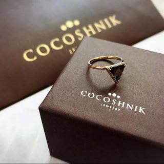 ココシュニック(COCOSHNIK)のタイムセール!美品!人気 完売品 ココシュニック  スモーキークォーツ リング(リング(指輪))