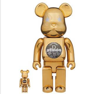 MEDICOM TOY - BE@RBRICK atmos GOLD CHROME 100% & 400%