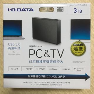 アイオーデータ(IODATA)の外付けハードディスク(3TB)(テレビ)