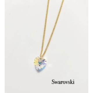 SWAROVSKI - スワロフスキーネックレス♡クリスタルオーロラハート