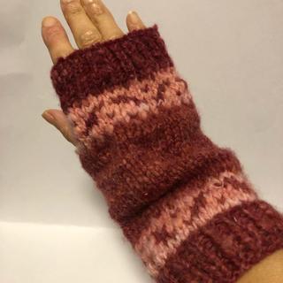 ハンドウォーマー手編み(手袋)