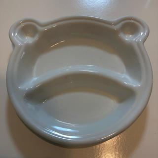 白磁 ポーセラーツ くまさんプレート(食器)