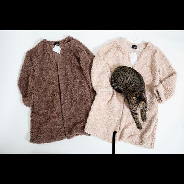 しまむら(シマムラ)のしまむら❁︎大人気完売ボアロングジャケット レディースのジャケット/アウター(ロングコート)の商品写真