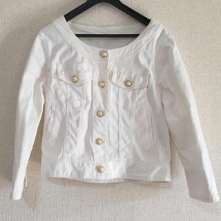 シマムラ(しまむら)のホワイト ジャケット(Gジャン/デニムジャケット)
