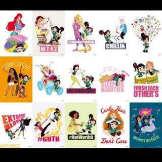 シュガーラッシュ(Sugar Russh)のシュガーラッシュオンライン 前売り特典 全五種 15枚 ポストカード ディズニー(キャラクターグッズ)