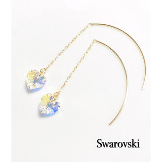 SWAROVSKI - スワロフスキーアメリカンピアス♡クリスタルオーロラハート