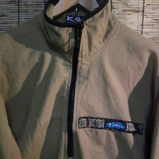 カブー(KAVU)の古着 KAVU カブー スローシャツ ハーフジップ カーキ M 米国製 (その他)