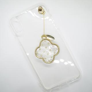 クローバーチャームスマホケース iPhoneX(iPhoneケース)