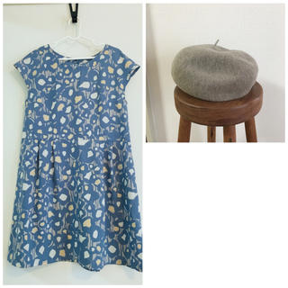 シャンブルドゥシャーム(chambre de charme)のワンピ&ベレー帽セット(ハンチング/ベレー帽)