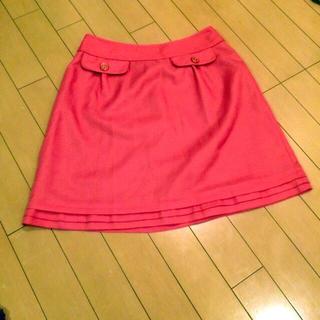 プーラフリーム(pour la frime)のオレンジ 膝丈スカート 着丈約46cm(ひざ丈スカート)