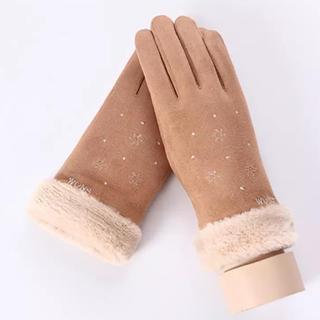 ザラ(ZARA)のSALE♡スエード調♡スマホ対応手袋♡ベージュ(手袋)