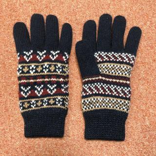 サマンサモスモス(SM2)の美品☆SM2 blue ノルディック柄 グローブ 手袋(手袋)