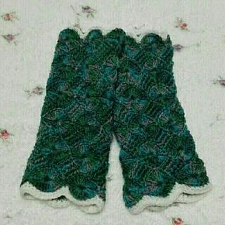 暖かい手編みのハンドウォーマー〜♡(手袋)