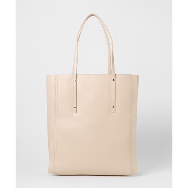 新品未使用 サミールナスリ トートバッグ 鞄 縦長 レザー 革 白
