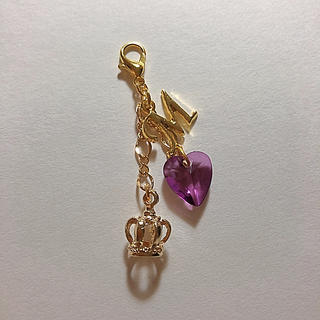 立体王冠チャーム  紫