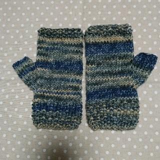 手編みの指なし手袋・sold out(手袋)
