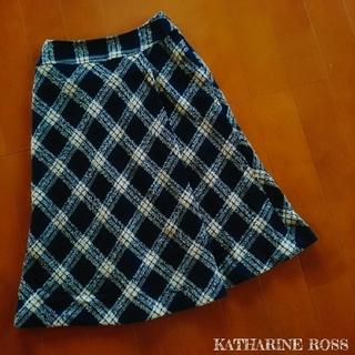 キャサリンロス(KATHARINE ROSS)の【K.ROSS】タータンチェック チェック柄 スカート MA(ひざ丈スカート)