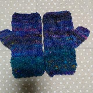 手編みの指なし手袋(手袋)