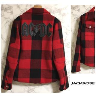 ジャックローズ(JACKROSE)のJACKROSE  VINTAGE × AC/DC チェックシャツジャケット(シャツ)