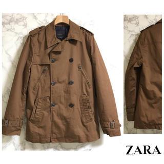 ザラ(ZARA)の【美品】ZARA MAN トレンチコート キャメル 38(トレンチコート)