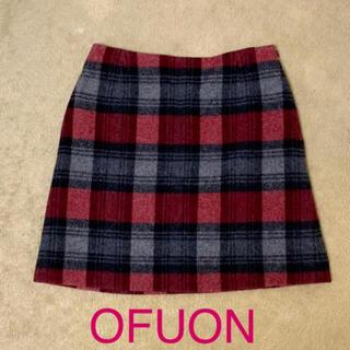 オフオン(OFUON)のOFUON チェック柄 スカート(ミニスカート)
