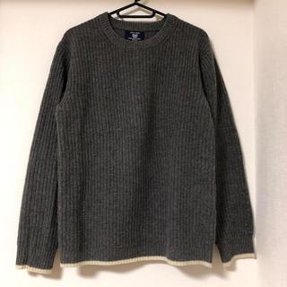 コムサコミューン(COMME CA COMMUNE)のコムサコミューン ニット セーター グレー Uネック プルオーバー(ニット/セーター)