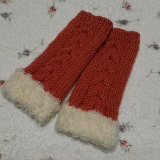 暖かい手編みのハンドウォーマー〜♡…(手袋)