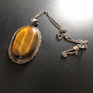 キャリー(CALEE)の定価18600円 ナバホ アーティスト タイガーアイ ネックレス(ネックレス)