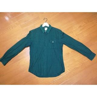ジュンレッド(JUNRED)の美品 JunRed ギンガムチェック チェックシャツ 肘当て きれいめシャツ(シャツ)