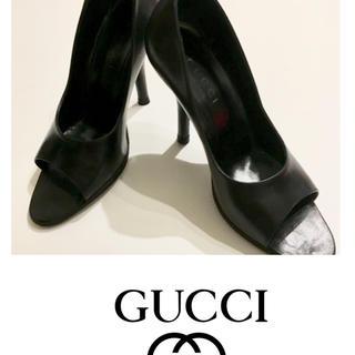 グッチ(Gucci)のGUCCIグッチオープントゥパンプス35C  used(ハイヒール/パンプス)