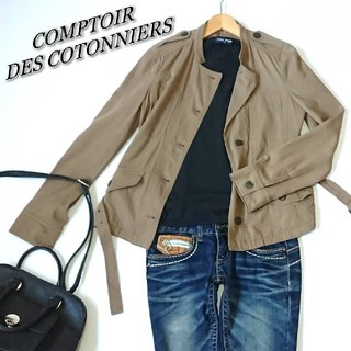コントワーデコトニエ(Comptoir des cotonniers)のCOMPTOIR DES COTONNIERS★ジャケット ブラウン♪レディース(ノーカラージャケット)