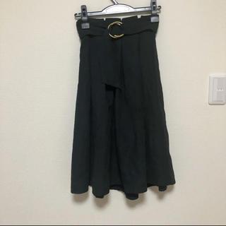 シマムラ(しまむら)のしまむら ミモレ丈 スカート 黒 ブラック(ロングスカート)