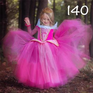 ディズニー(Disney)のオーロラ姫 ドレス 140 プリンセスドレス 眠れぬ森の美女(ドレス/フォーマル)