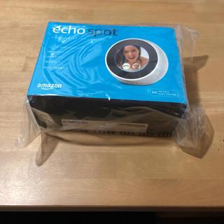 エコー(ECHO)の【新品】Amazon echo spot エコースポット ホワイト(スピーカー)