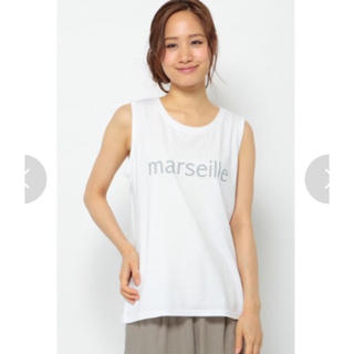 エルビーシー(Lbc)のmarseille ロゴプリント ノースリーブ tee ホワイト(Tシャツ(半袖/袖なし))