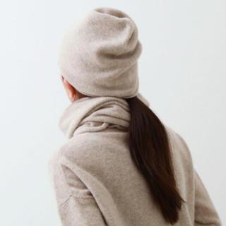 エヴァムエヴァ(evam eva)のevam eva  brushed cap ニット帽(ニット帽/ビーニー)