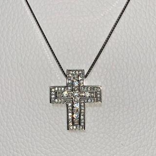 white gold cz diamond separate necklace