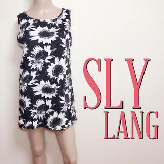 スライラング(SLY LANG)のいつでも♪スライラング ゆるカジュアルワンピース♡ザラ マウジー(ミニワンピース)