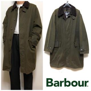 バーブァー(Barbour)のUSED Barbour CLASSIC 3/4 COAT オイルドジャケット (ステンカラーコート)
