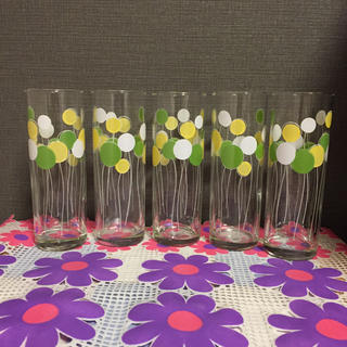 トウヨウササキガラス(東洋佐々木ガラス)の昭和レトロポップ グラス 風船柄(グラス/カップ)