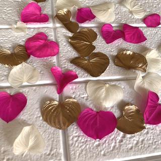 ハートリーフ バレンタイン花材 30枚(ドライフラワー)